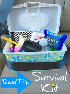 Road trip survival kit for kids and parents. What to bring to keep your kids busy on road trips....great list!! #oreomultipacks #sponsored