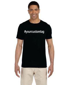 custom hashtag unisex cut shirt by OodlesDecals on Etsy