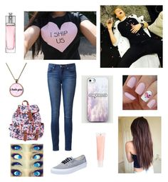"""""""Eating Smarties With Luke Hemmings"""" by jensehayley ❤ liked on Polyvore featuring Vans, J.Crew, Aéropostale, Christian Dior and Paige Denim"""