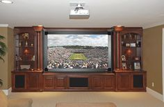 Custom built-in tv cabinets & entertainment centers Custom Entertainment Center, Entertainment Center Kitchen, Entertainment Room, Diy Fireplace, Fireplace Design, Built In Tv Cabinet, Tv Cabinets, Custom Cabinetry, Built Ins