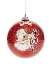Winter Charms Ho Ho Ho Santa Ornament