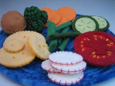 Various staple felt food items.