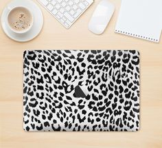 "The Vector Leopard Animal Print Skin Kit for the 12"" Apple MacBook from DesignSkinz"
