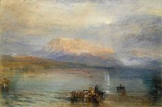 The Red Rigi by JMW Turner, watercolor painting, 1842, 30.5 x 45.8 cm.