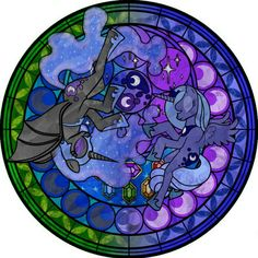 Luna stained glass