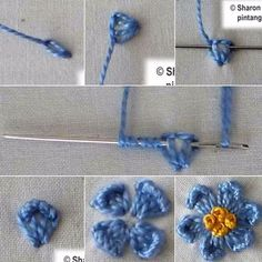 ❤️ Sharon boggon http://pin.it/unhasEQ #❤️نکات_آموزشی_گلدوزی #❤️buttonhole_stitch #❤️bullion_stitch