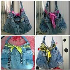 My handbag with a recycled jean;-)love it sooo much