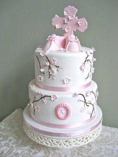 torta original para primera comunion de niña