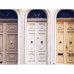 I've #featured #twindoors in this #gallery but how about #triplets ? #love the #colour #syncronicity of these #three #doors #southstreet #valletta | #malta #maltadoors #doorsofmalta #sundoors #portas #tris by maltadoors