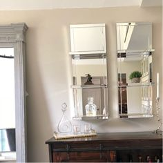 Mirror With Shelf, Wall Installation, Wood Glass, Furniture Companies, Joss And Main, Wood Wall, Storage Organization, Bathroom Medicine Cabinet, Decorative Pillows