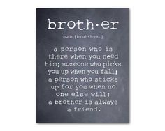 Wall Art  A brother is a person  Brother by SusanNewberryDesigns, $14.00