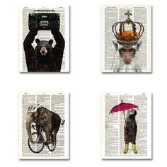Animal 4 Pack, $22, now featured on Fab.