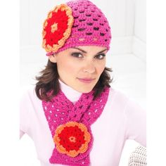 Flower Cap and Scarf - Summer