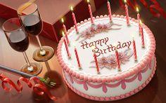 Free Happy Birthday Text Message| Happy Birthday Cake Image| Romantic birthday cake wine Image Download