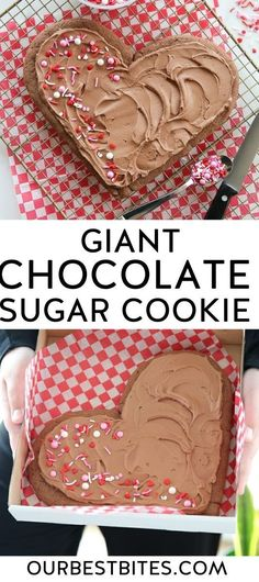 This is a soft buttery sugar cookie made with melted chocolate both in the cookie and the silky smooth icing. Oh, and it's the size of your head. #GiantCookie #ChocolateSugarCookie #ValentinesDayCookies #SugarCookies #OurBestBites #ValentinesTreats Happy Valentine Day HAPPY VALENTINE DAY |  #WALLPAPER #EDUCRATSWEB | In this article, you can see photos & images. Moreover, you can see new wallpapers, pics, images, and pictures for free download. On top of that, you can see other  pictures & photos for download. For more images visit my website and download photos.