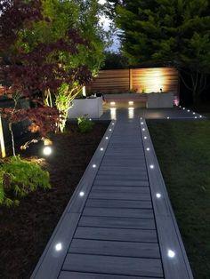 Modern Landscape Design, Modern Garden Design, Backyard Garden Design, Backyard Projects, Modern Backyard, Modern Landscaping, Front Yard Landscaping, Landscaping Ideas, Garden Path Lighting