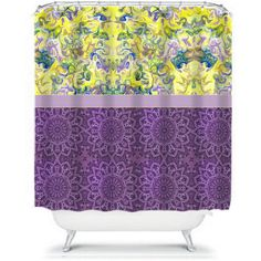 purple and yellow shower curtain. Shower Curtain Ebi Emporium Efflorescence Lavender Blue Great Gift  69 liked on Polyvore featuring home bed bath shower curtains