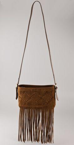 'Frida' suede fringe handbag by Twelfth St. by Cynthia Vincent