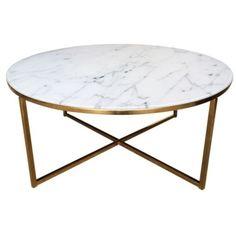 Konferenční stolek Venice, zlatá podnož, 80 cm