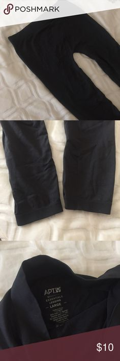 Dark gray seamless leggings Used once or twice. In pretty good condition! ♡ kind of feels like thick tights. bundle to save! Will fit size M-L Apt. 9 Pants Leggings