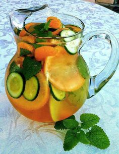 FAT FLUSH Water - You should drink at least three 8 oz glasses per day they say the longer it sits the better it tastes You can eat them as well but they are intended as flavoring and still work so that is a personal choice The Vitamin C turns fat into fuel the tangerine increases your sensitivity to insulin and the cucumber makes you feel full