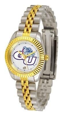 Gonzaga Bulldogs NCAA Womens 23Kt Gold Watch by SunTime. $134.95. Women. Links Make Watch Adjustable. 2-Tone Stainless Steel Band. Officially Licensed Gonzaga Bulldogs Women's Two-Tone Executive Watch. 23kt Gold-Plated Bezel. The ultimate fans statement our Ladies Executive timepiece offers women a classic business-appropriate look. Features a 23kt gold-plated bezel stainless steel case and date function. Secures to your wrist with a two-tone solid stainless steel ba...