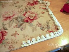 How to sew a Throw Pillow Cover with trim. Have a few to do this summer!