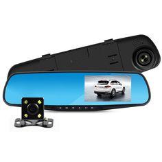 "Hot Sale Novatek 96655 chip 4.3"" Rear view Mirror Car DVR Camera Dash cam Full HD 1080P Video Registrator Recorder Night Vision"