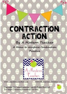 Contraction Action: Menu for Contraction Practice