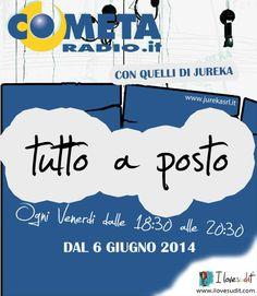 sintonizzati sulle frequenze di ''cometa radio'' o in streaming su www.cometaradio.it !!!!!