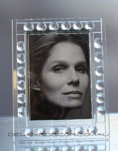 Crystal Glass Photo Frame P6014 http://deluxedecor.com.au/products-page/photo-frames/