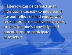 Educational Postcard: Understand, use, reflect on, and engage with texts = literacy
