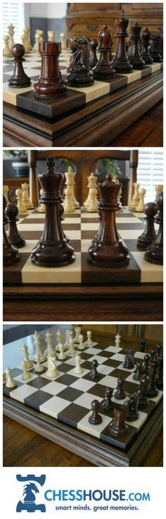 An engineering based builder of premium grade solid-hardwood chess boards. Driven by the singular goal of producing the very finest chess products, the boards are completely hand fabricated in New England with remarkable precision and attention to detail. Wood Projects, Woodworking Projects, Chess Set Unique, Chess Table, Wood Games, Table Games, Game Tables, Chess Pieces, Wood Turning