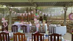 Beautiful pink baby shower for little Mia. How cute is the setting? Beautiful Baby Shower, Corporate Events, Monkey, Magic, Table Decorations, Party, Pink, Playsuit, Fiesta Party