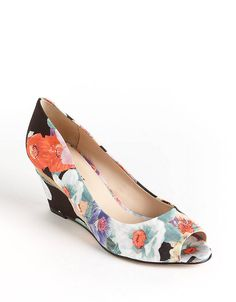 Shock Mode Printed Wedge Pumps from Nine West! #Lordandtaylor