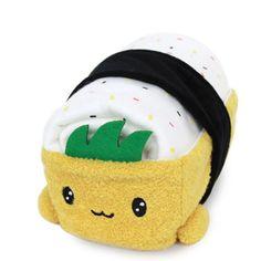 100% Cotton Cute Lovely Kawaii Sushi Cushion Doll Choba 6in (15cm) Fried Tofu #CottonFood