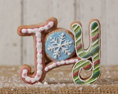 Christmas Candy Decoration Gingerbread Joy Sign shelley b home and holiday