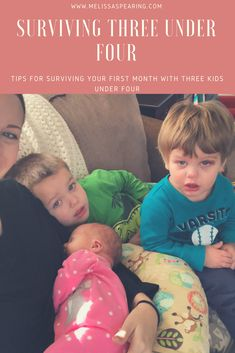 Let me just start by saying having three kids is freaking exhausting. You are constantly being pulled in a million different directions. It seems like someone always has to poop or needs a diaper change, someone always needs more juice or snacks, and almost always there is a melt down right around the corner. With… Continue reading SURVIVING THREE UNDER FOUR : TIPS FOR SURVIVING YOUR FIRST MONTH WITH THREE KIDS UNDER FOUR