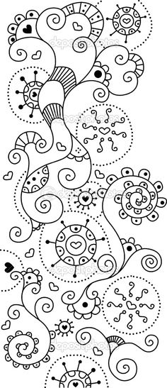 adult coloring and doodle ~~ art & drawings Doodles Zentangles, Zentangle Patterns, Embroidery Patterns, Embroidery Art, Embroidery Stitches, Doodle Art, Tangle Doodle, Zen Doodle, Doodle Drawings