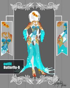 CLOSED Adoptable Auction: Outfit Butterfly-B by Hassly.deviantart.com on @DeviantArt