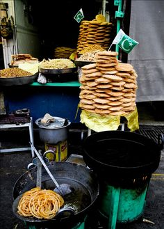 Street Food in Rawalpindi, Pakistan. The center of the Rawalpindi is only 14 kilometres from the center of Islamabad. The so-called twin cities of Islamabad and Rawalpindi are commonly viewed as one unit, and indeed, one day the two will physically merge.