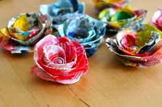 Washi tape flowers.