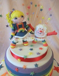 cute rainbow brite cake