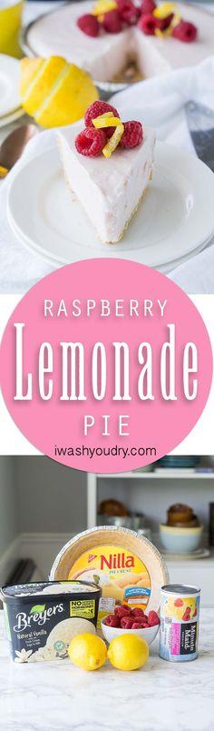 3 Ingredient Raspberry Lemonade Pie