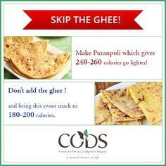 Enjoy puranpolis the CODS way! Skip the ghee and drop the calorie intake.  #CODSIndia #nutrition #Indianfoodcaloriemeter