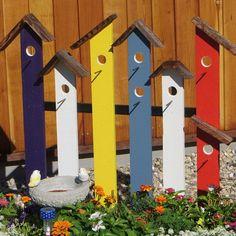 Birdhouse Trellis (Fence) of Many Colors