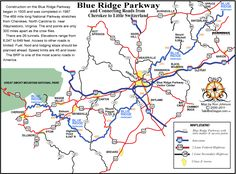 Blue Ridge Parkway Guide  I would have to venture off the map to