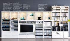 Album - 8 - Photos catalogues IKEA Bibliothèques Billy, Besta, Expedit, Hemnes... - Changement de décor autour de la télé ?!