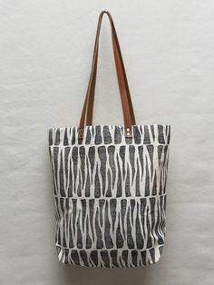 Image of Zebra Spike Block Print Tote Bag