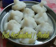 I tried healthy twist to Ganapathi Neivadhyam - famous Kozhukathai / Modak by using Oats instead of grated coconut. It came out very well ...